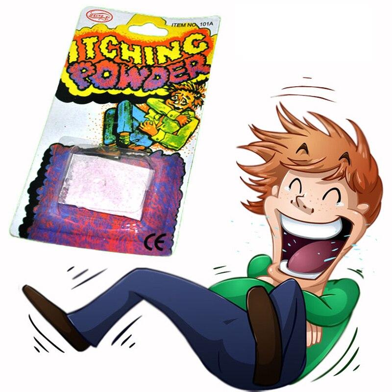 Venda quente criança brincadeira coceira em pó brinquedos prurido em pó eficaz brincadeira brinquedos para crianças adulto engraçado jogo novidade piada brinquedos