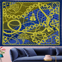GN.PAPAYA Nordic Style Classical Pattern Tapestry Vintage Style Pattern Tapestries Retro chain Wall Hanging home decor недорого