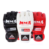 Brand MMA Boxing Gloves Top Quality PU Leather MMA Half Fighting Boxing Gloves Competition Training Gloves