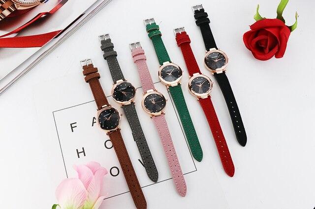 2019 Luxury Brand Gogoey Women Watches Personality romantic starry sky Wrist Watch Rhinestone Design Ladies Clock 5