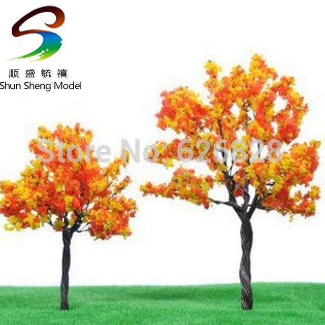 DIY Scene model material model tree yellow saffron wire tree