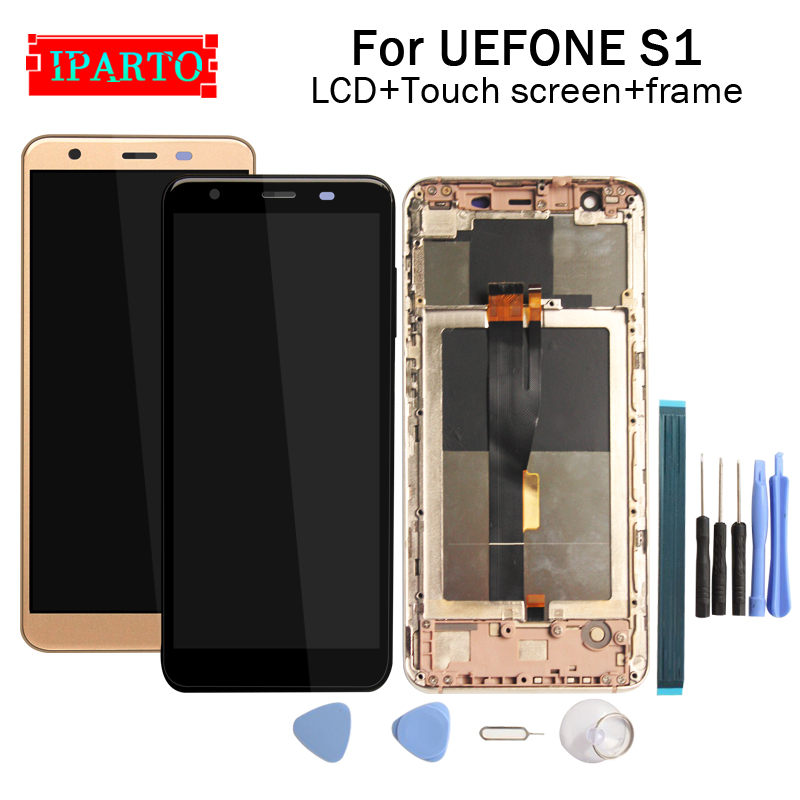 ULEFONE S1 LCD Display Touch Screen Digitizer Frame Assembly 100 Original New LCD Touch Digitizer for