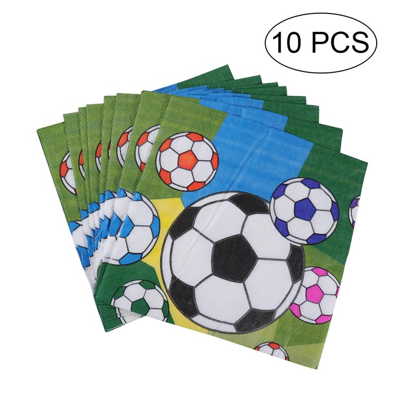 Party Supplies Soccer Round Plastic Table Cover Sports Birthday