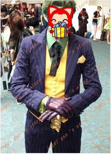 Free shipping New Custom made High quality Batman Arkham City Joker Cosplay Costume for Halloween B 71-in Anime Costumes from Novelty u0026 Special Use on ... & Free shipping New Custom made High quality Batman Arkham City Joker ...