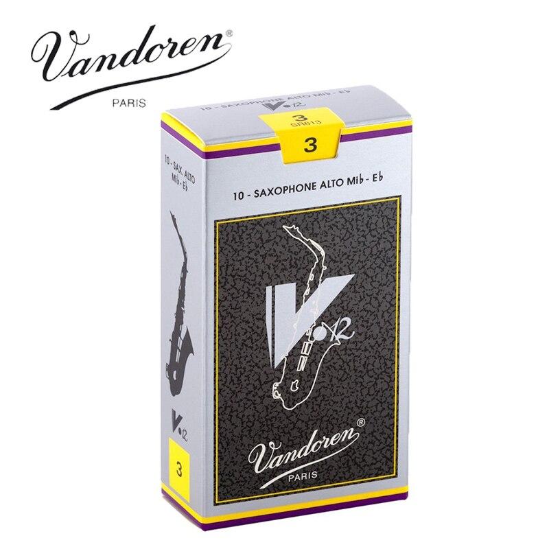 Original France Vandoren V12 Alto Sax Reeds / Saxophone Alto Eb Reeds Strength 2.5#, 3#,3.5# Grey Box of 10 [Free shipping] advanced selmer a series alto e flat eb sax metal mouthpiece 7 for saxophone beginner gold plated saxe