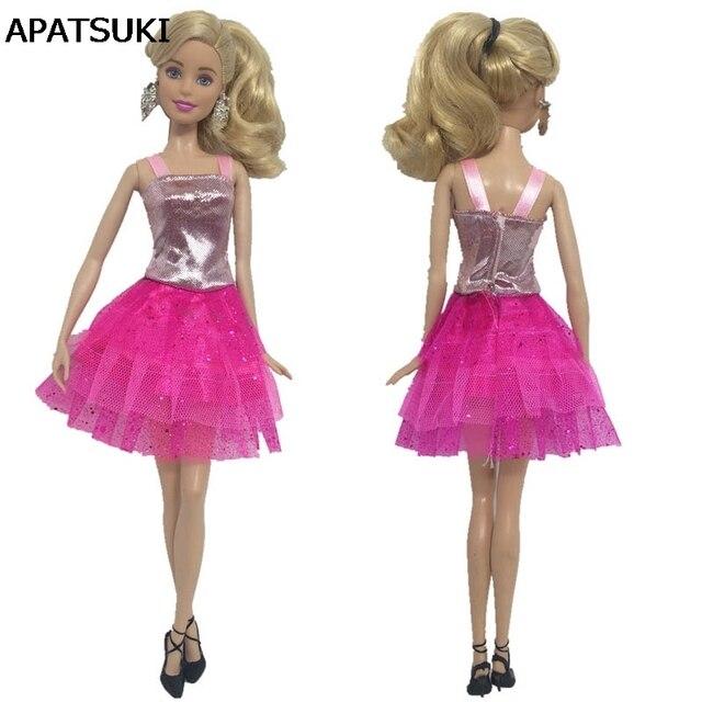 Moda Ropa de muñeca para Barbie Muñecas una pieza vestido para ...