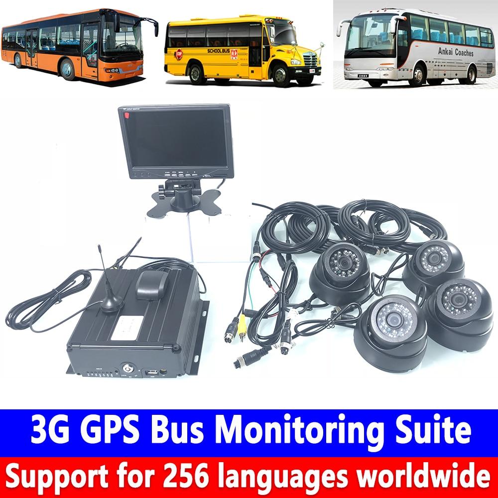 Disco rígido 4 maneira HD remoto posicionamento + armazenamento de cartão SD + 960 P HD pixel 3G GPS Ônibus suíte monitoramento de veículos Comerciais/trem