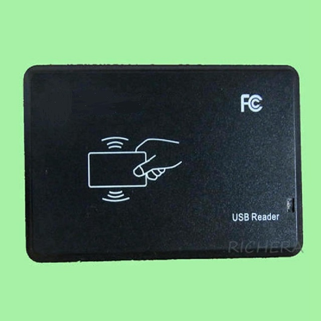 Brand New USB RFID 13.56Mhz IC Card Reader Security High Quality No Drive Software Need Support Win8 Free Shipping With Track No