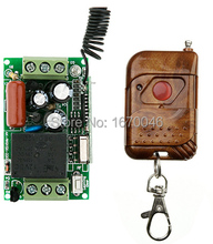 NUEVA Salida de Relé AC220V 1CH 10A Interruptor Ligero Teledirigido teleswitch Radio Módulo Receptor y Transmisor código Aprendizaje