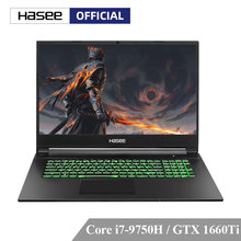 Hasee G7-CT7NA Laptop untuk Gaming (Intel 9Gen I7-9750H + GTX1660Ti 6G GDDR6/8G RAM/512 G SSD/17.3 ''144 HZ 72% NTSC IPS/DOS) notebook(China)