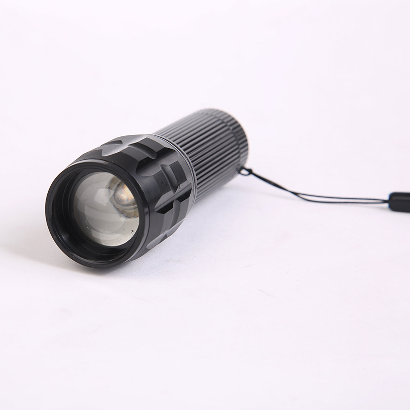 Mini Zoom Adjustable Led Lampe Torche Portable Telescopic Baton
