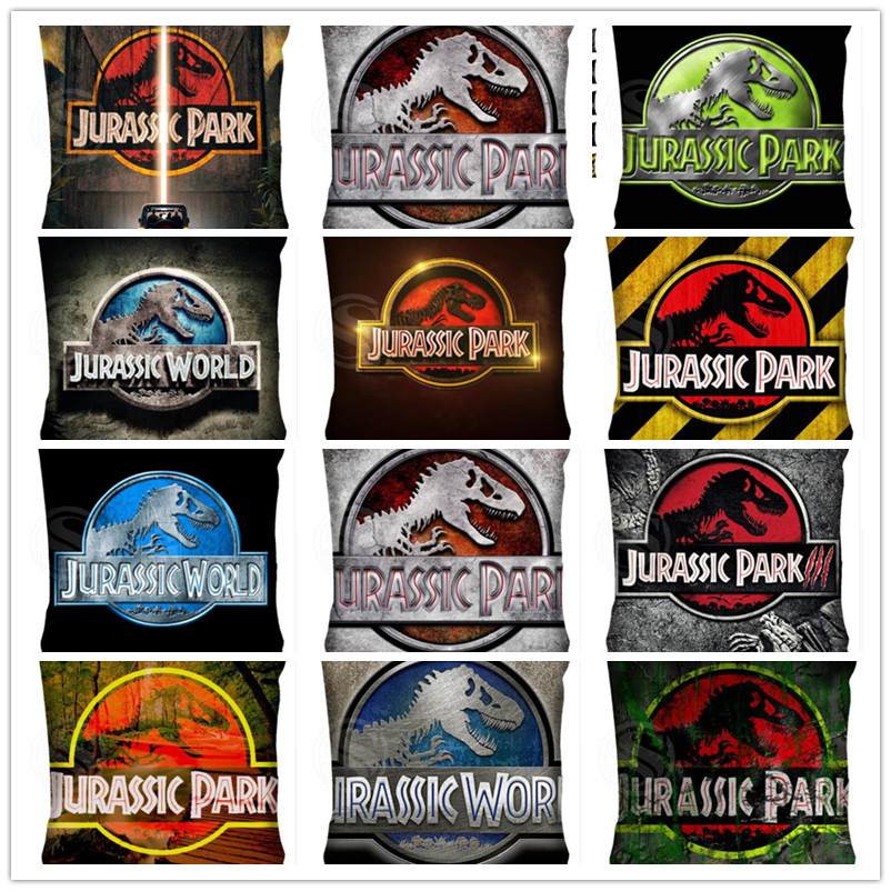 Top Sale Throw Pillow Case adventure Movie Jurassic Park Bestative pillow Cover Cushion cover image