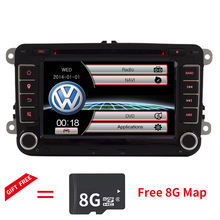 цена на 7 Capacitive touch screen Car DVD Player GPS navigation system for VW Volkswagen POLO Skoda Seat with bluetooth SWC Canbus