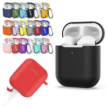 Shockproof For AirPods Case Earphone Case TPU Silicone Bluetooth Wireless Headphone Protector Cover for Apple Airpods Case Cover(China)