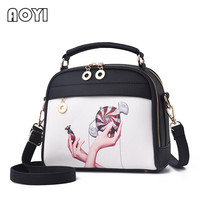AOYI Women Shoulder Bag Messenger Crossbody Bags Fashion Print Beach Bag Evening PU Leather Clutch Bag