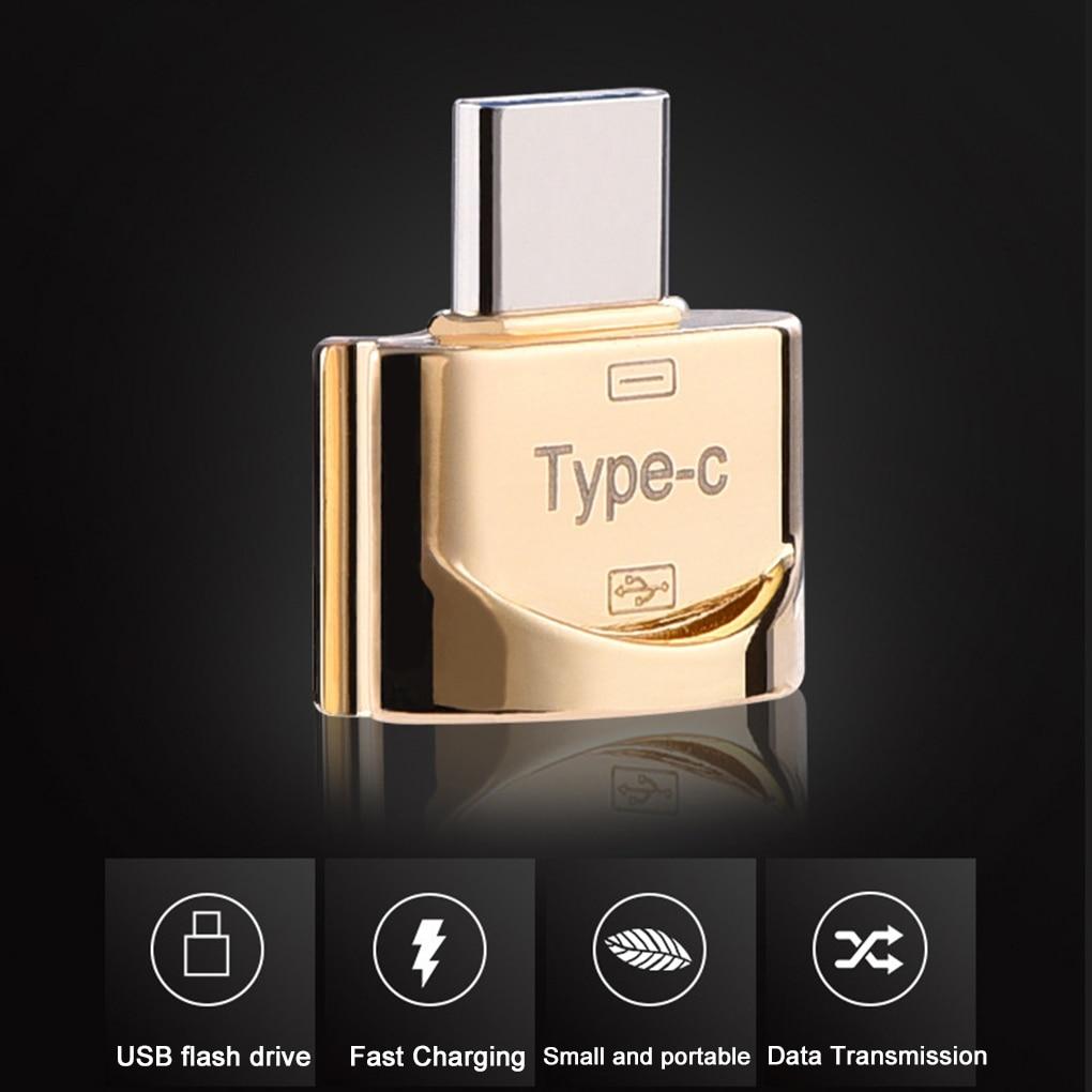 Mini High Transmission Speed USB 3.1 Phone Camera TF Memory Card Reader OTG Adapter Type-c Port