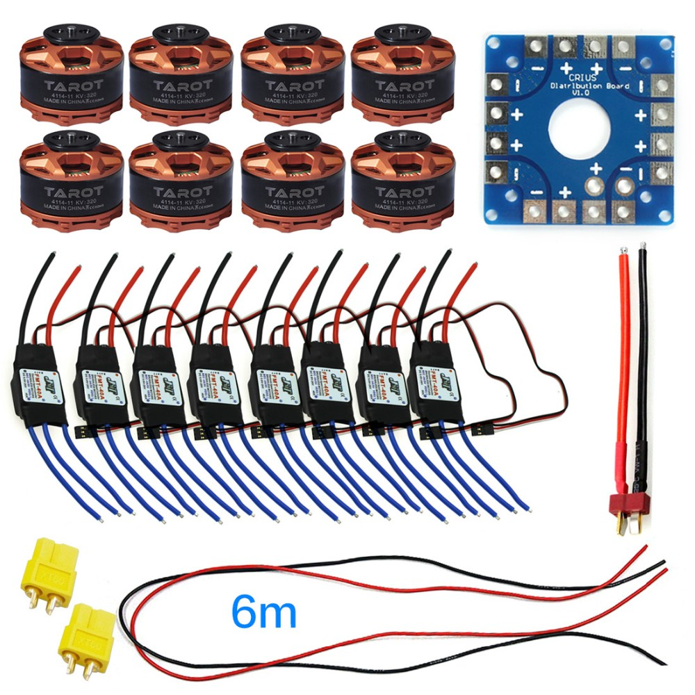 JMT Assembled Kit 40A ESC Controller Connection Board Wire Tarot 320KV Motor for 8-axle Drone Multi Rotor Hexacopter F04997-G 76zy01 mig motor wire feed motor wire feeder motor dc24 1 8 18m min 1pk
