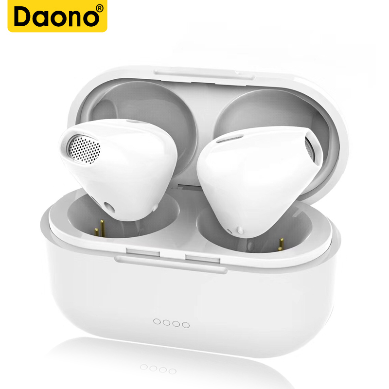 DAONO TWS V4.1 True Stereo Wireless Earbuds Mini Invisible Bluetooth Earphones Sport In-Ear Music Headset with Mic charging box