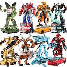 19 Cm Transformasi Mobil Robot Mainan Aksi Tokoh Deformasi Mobil Model Mainan untuk Anak-anak Hadiah Klasik Brinquedos Juguetes