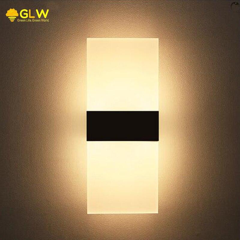 GLW Modern Wall Light Sconce Living Room LED Wall Mount 3W 6W 8W Applique  Led Murale Abajur Balcony Fixture Plug Warm Lamp