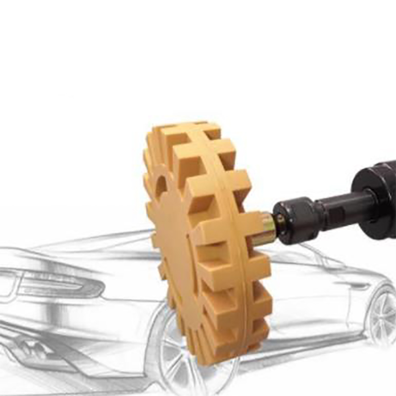 4 Inch Pneumatic Degumming Disc To Rubber Wheel Rubber Grinding Wheel Car Tire Polishing Wheel