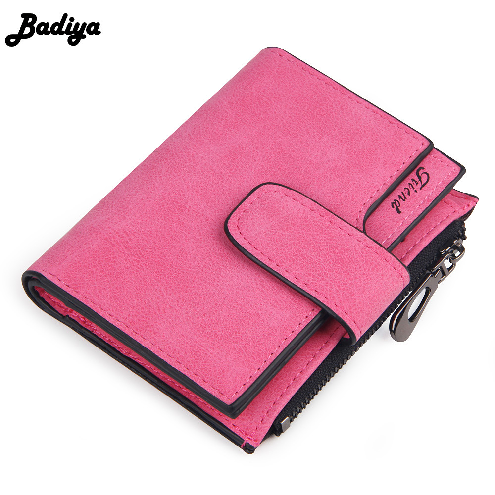 Fashion Solid Vintage Women Short Wallet Small Female Purse Zipper Carteira Fashion Ladies Purses Brand Card Holder Clutch