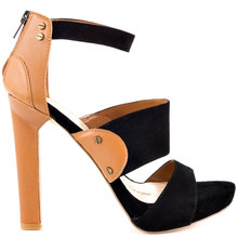 Brown and Black Women Sandals Simple Stilettos High Heel Women Shoes Sandal On Sale Made-to-order Plus Size Heeled Sandals