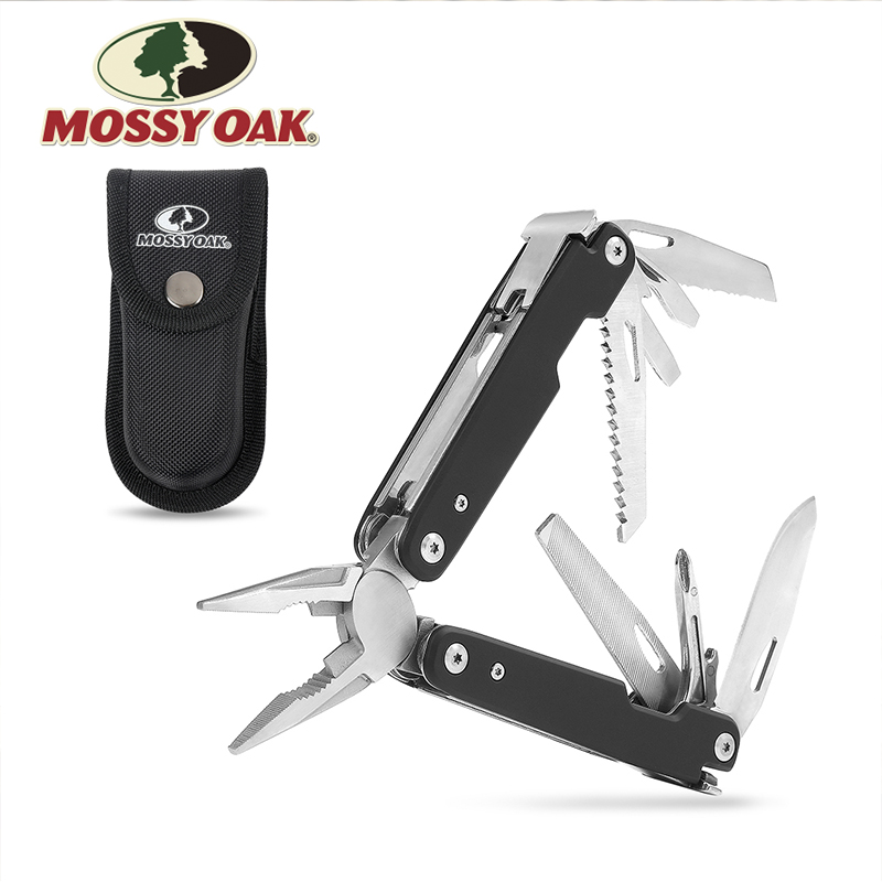 MOSSY OAK Multitool 12-in-1 Multi Pliers Wire Cutter Multifunction Tools Survival Camping Tool Fishing