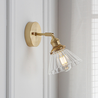 West Early Modern Nordic Led Lamp Japanese Bedside Brass Wall Lamps Simple Mirror Headlamp Lights For Bathroom