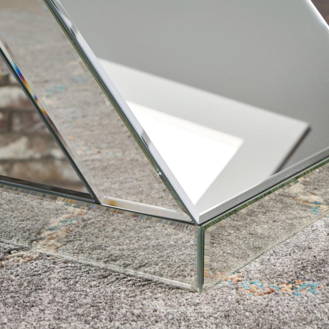 Adu Mirrored Z Shaped Side Table (2)