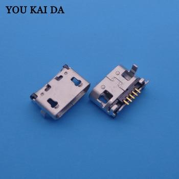100 piezas Conector Micro USB Jack hembra 5 pin de carga para Lenovo A10-70 A370E A3000 A3000H A5000 A7600 A7600H s910 S930