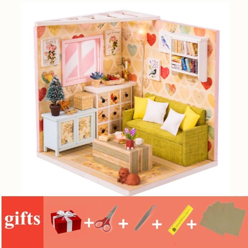 Casa delle Bambole Miniatura salotto in Miniatura Casa Bambole scala 1.12 3D TV