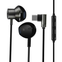 Fone de ouvido com fio usb TYPE C jack controle com fio fones de com microfone hd estéreo fones de ouvido para iphone xiaomi computador