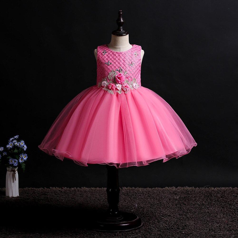 Kids Girl Dress Baby Girl Clothes Dress Girl Wedding Girl Dress Sleeveless Princess Dress Baby Wedding Tutu Dress Wedding