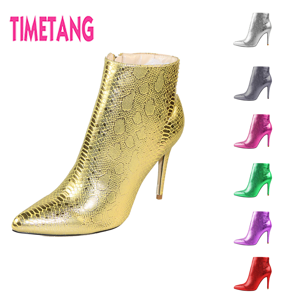 Amazing New Ankle Boot for Women Hot Sale Fashion SnakeSkin Pointed Toe High Thin Heel Sexy Lady Boot for Spring/Autumn/Winter hot sale open front geometry pattern batwing winter loose cloak coat poncho cape for women