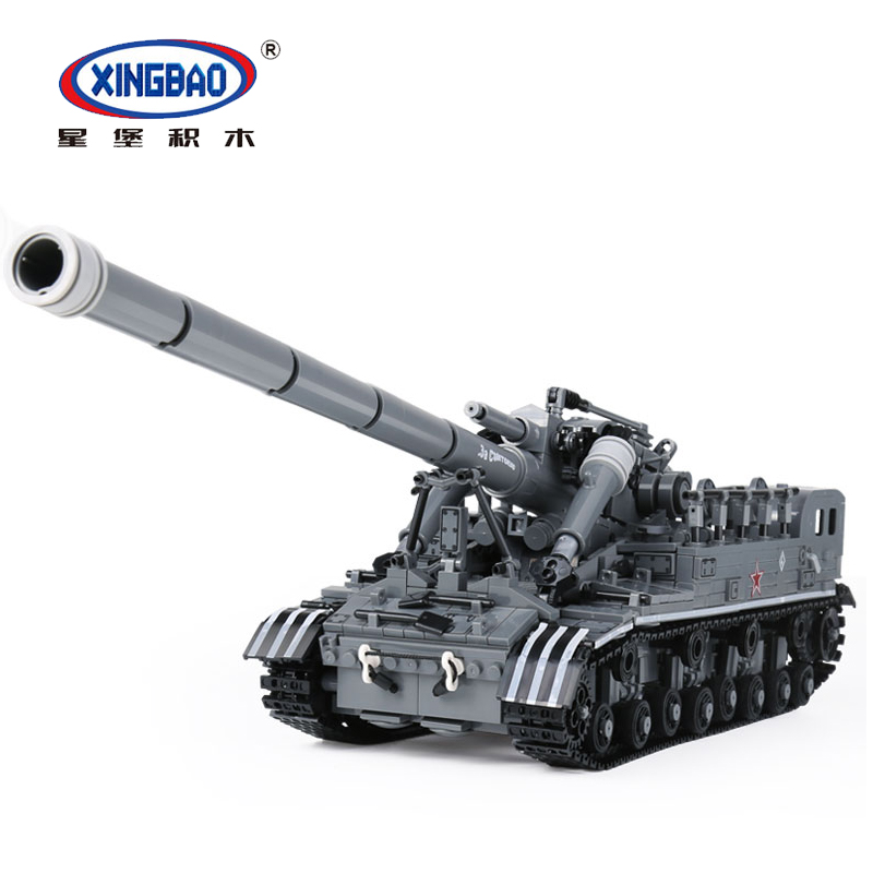 XingBao 06001 MOC Military World War T92 Tank Set Educational Building Blocks Brick Legoings Children Toy Model Technic Designer холодильник атлант 6224 181