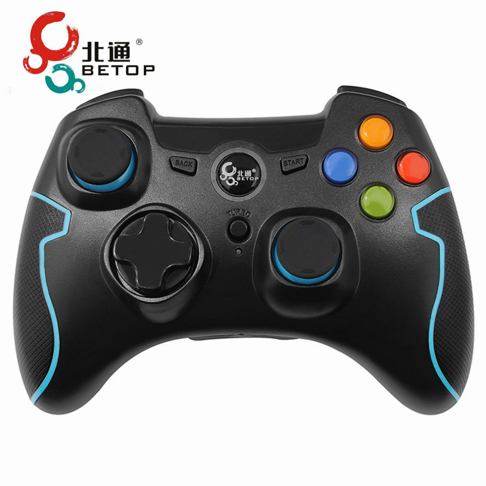 BETOP 2.4G Wireless Vibration Gamepad Games Controller Console Control Joypad For PS3 For PC 360 Mode Game For TV For Android