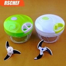 500ml Multifunction High Speedy Chopper Garlic Cutter Vegetable Fruit Twist Shredder Manual Meat Grinder Slicers Accessories