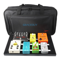 Guitar Pedal Board Setup Bigger Style DIY Guitar Pedalboard With Velcro Musical Instrument Accessory New