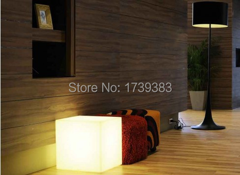35CM100% unbreakable led Furniture chair/table Magic Dic LED Remote controll square cube lumineux light for variety of occasions