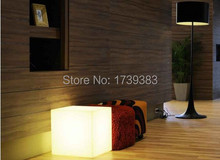 цены 35CM100% unbreakable led Furniture chair/table Magic Dic LED Remote controll square cube lumineux light for variety of occasions
