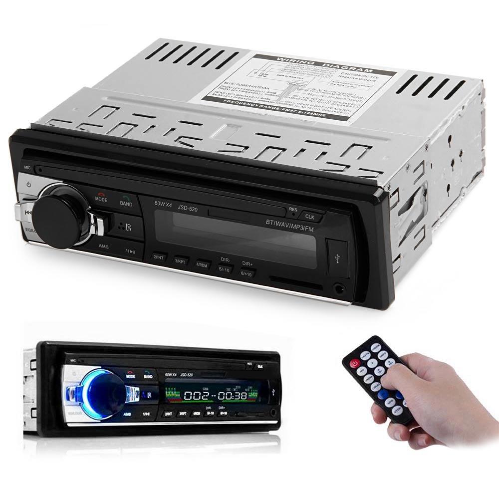 Prix pour Simple Din Voiture Stéréo Audio 12 V Bluetooth V2.0 En-dash FM Récepteur Entrée Aux Récepteur USB MP3 MMC WMA FLAC Voiture Radio Lecteur