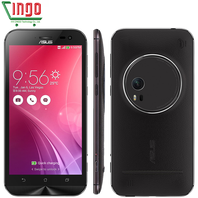 "Original ASUS Zenfone Zoom ZX551ML Mobile Phone 4GB 64GB 5.5"" FHD Z3580 2.3Ghz Quad Core 3X Optical-Zoom Camera 4G LTE Android"