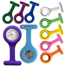 High-quality Silicone Nurse Clock in 10 colors FREE BATTERY