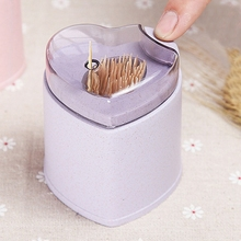 Automatic Toothpick Holder Container Wheat Straw Household Table Storage Box Dispenser Kitchen Tools