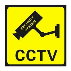Квадратный видеонаблюдения 24 часа мониторы Предупреждение стикеры s знак оповещения водостойкая Настенная Наклейка Lables