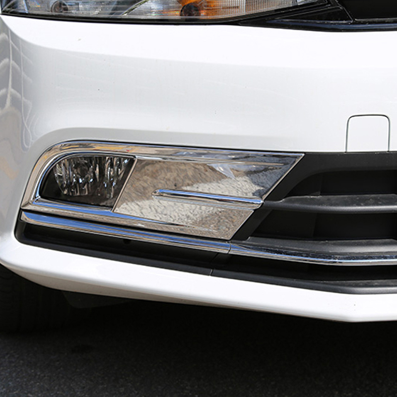 Free Shipping High Quality ABS Chrome Front Fog lamps cover Trim Fog lamp shade Trim For Volkswagen VW JETTA MK6 SAGITAR
