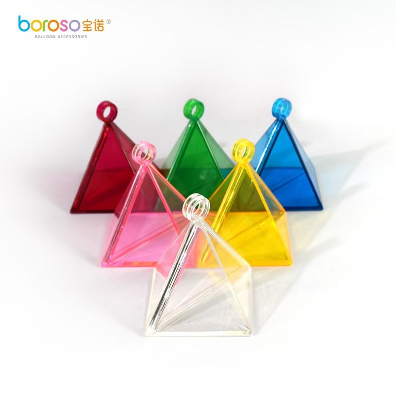 B611 gratis verzending 25 gram Diverse kleuren Piramide ballongewicht 6 stuks