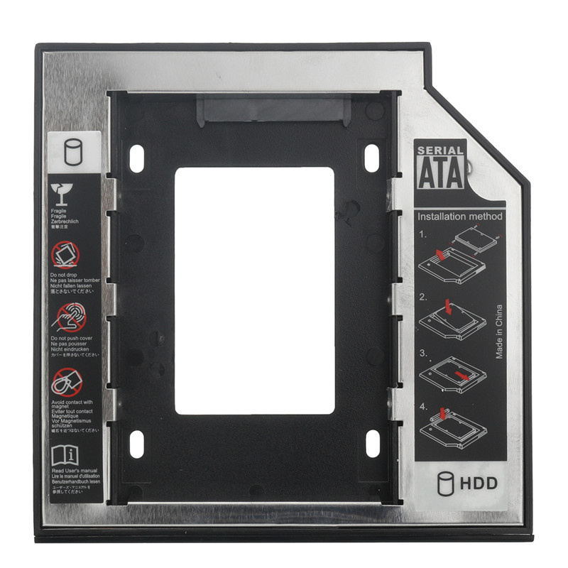 Universal 2.5 2nd HDD Enclosure SSD Hard Drive Caddy Adapter Optical Bay For IBM/Lenovo Thinkpad T430 T430i W530 T530 T530i
