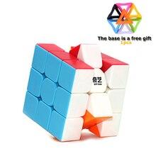 Qiyi Магический кубик 3х3х3, красочные Скорость куб Stickerless головоломки игрушки для детей, взрослых, профессиональный высокое качество подарок база